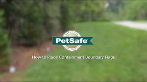 How To Place Petsafe Containment Boundary Flags Youtube