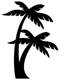 Simple Palm Trees Silhouette Clip Art Library