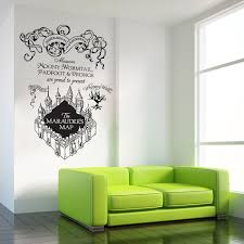 The Marauder S Map Harry Potter V2 Vinyl Wall Art Decal