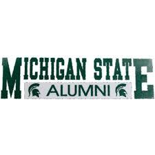 Michigan State Spartans Alumni Car Decal