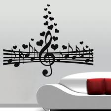 Amour Pour La Musique Wall Decal Par Colorfulwalls Sur Etsy Music Wall Music Wall Decal Music Wall Art