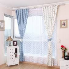 Kids Room Polka Dots Light Filtering Soundproof Grommet Curtain Drops 80 By 63 Inches Blue