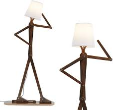 Hroome Cool Tall Decorative Floor Lamp Standing Lights Adjustable Corner Reading For Kids Bedroom Office Wooden Swing Arm Lamps Led Bulb Included Teak Amazon Com