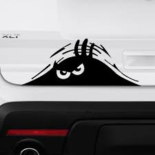 Peeking Monster Scary Funny Vinyl Decal Sticker For Body Car Truck Door Window Chicocanvas