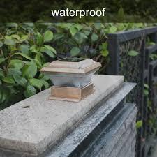 On Sale Solar Power Fence Post Lights Waterproof Outdoor Garden Landscape Yard Pillar Lamp Warm Light Lazada Ph