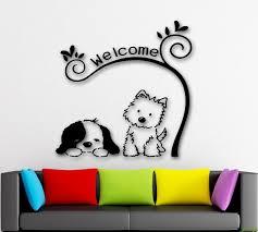 Wall Stickers Dog Cute Animal Pet Welcome Nursery Kids Room Vinyl Decal Ig1337 682017265995 Ebay Wall Stickers Dogs Dog Grooming Salons Diy Dog Stuff