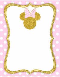 Kit Imprimible Minnie En Dorado Solo Textos Editables Tarjetas