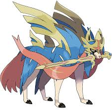 Legendary Pokémon Zacian and Zamazenta