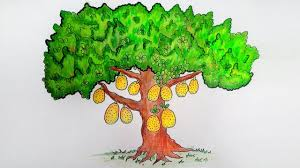 Jackfruit Tree Very Easy Drawing/How to draw a jackfruit tree ...