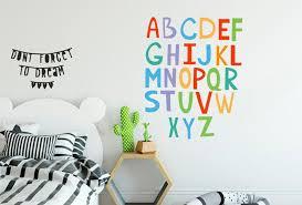 Alphabet Wall Decal Children Alphabet Decal Kids Room Etsy