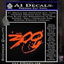 300 Movie Title Decal Sticker Sparta A1 Decals
