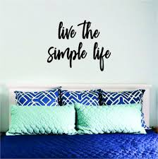 Live The Simple Life Quote Wall Decal Sticker Bedroom Room Art Vinyl I Boop Decals