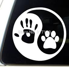 2020 Human Hand Dog Paw Vinyl Window Decal Sticker For Car Laptop Glass Nightside And Sunny Side From Circlejuan 32 47 Dhgate Com