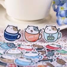 Cat In Cup Stickers Kawaii Pen Shop