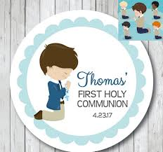boy girl first communion