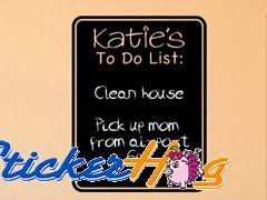 Personalized To Do List Chalkboard Vinyl Wall Decal Graphics Girls Boys Kitchen Office Decor