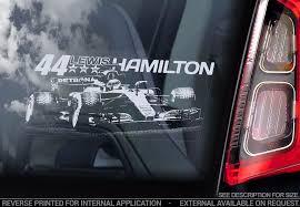Car Window Sticker Lewis Hamilton Typ4 Formula 1 F1 Champion Decal Gift Art