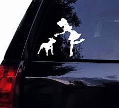 Amazon Com Tshirt Rocket Pitbull Decal Sassy Pit Lady Loves Her Floppy Ear Pitbull Dog Vinyl Car Decal Laptop Decal Car Window Sticker 5 White Automotive