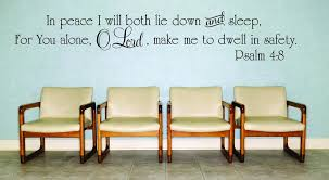 Decal In Peace I Will Both Lie Down And Sleep Quote 20x30 Contemporary Wall Decals By Design With Vinyl