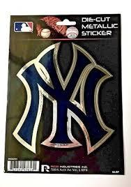 New York Yankees Window Decal 5 25 X 6 25 Die Cut Metallic Sticker Ny Logo 767345476180 Ebay