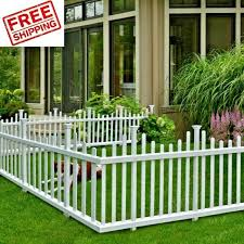 Vinyl Fencing Fence Panels Outdoor Corner No Dig Dogs Animal Garden Yard Kids 2 For Sale Online Ebay