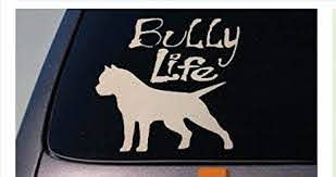 Amazon Com Ez Stik Bully Life American Bully Apbt Sticker Decal Pit Bull Rescue K9 Pitbullb176 Arts Crafts Sewing