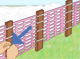 How To Install A Snow Fence With Pictures Wikihow