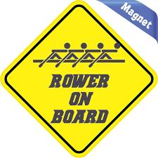 5in X 5in Rower On Board Magnet Stickertalk Bumper Magnets Bumper Stickers Car Stickers