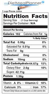nutrition facts label fruit 4