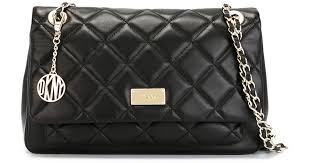 dkny quilted cross bag in black lyst