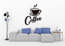 Silhouette Of Hot Coffee Cup Quote Wall Decal Vinyl Sticker Krafmatics