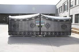 New Design House Iron Pipe Driveway Gate Grill Garden Metal Tubular Fencing View Garden Metal Tubular Fencing Sui He Product Details From Qingdao Sui He Science And Technology Development Co Ltd On
