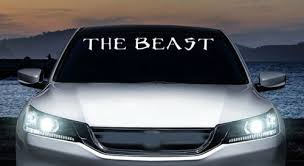 The Beast Monster Muscle Windshield Banner Vinyl Decal Car Trucks Wish