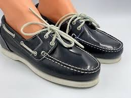 deck shoes navy blue flats loafers uk