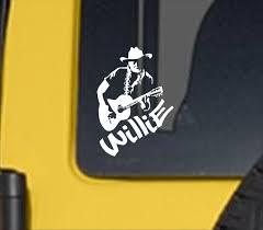 Willie Vinyl Decal Willie Vinyl Sticker Willie Decal Country Music Decal Country Music Legend Willie Willie And Trigger Country Music