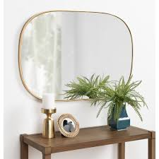 leaf wall mirror gold