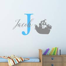 Decor Decals Stickers Vinyl Art Personalised Pirate Ship Wall Sticker Decal Children Boys Nursery Bedroom Home Garden Vibranthns Lk