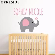 Elephant Cute Wall Decals Custom Girl Whole Name Wall Sticker Home Sweet Lovely Deocr Girls Bedroom Wall Decal Kids Gift M138 Wall Stickers Aliexpress