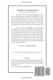 The Concord Review: V25, No. 3, Spring: Fitzhugh, Will: 9781508796220:  Amazon.com: Books