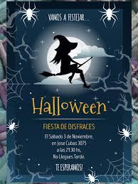 Invitacion Fiesta Halloween Bruja Cumpleanos 190 00 En Mercado