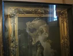 antique large gold ornate shadow box