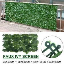 50x100cm Artificial Hedge Ivy Leaf Garden Fence Privacy Screen Outdoor Decor U Ebay