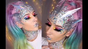 glitter holographic fantasy makeup