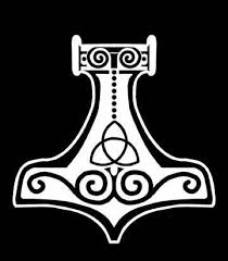 Mjolnir Viking Vinyl Decal In 2020 Vinyl Decals Hammer Drawing How To Draw Hands