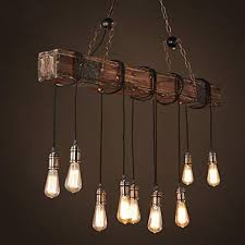 pendant chandelier wooden pendant light