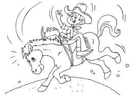 Kleurplaat Cowboy Te Paard Gratis Kleurplaten Om Te Printen