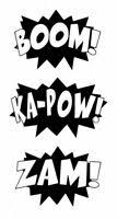 Vwaq Comic Book Set Of 4 Wall Decal Sound Effects Comic Book Bam Pow Boom For Sale Online