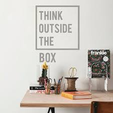 Creative Thinking Inspirational Quotes Wall Decal Motivational Vinyl Wall Stickers For Living Room Study Room Home Office Decor Leather Bag