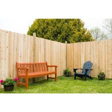 Unbranded 6 Ft H X 8 Ft W Eastern White Cedar Moulded Rail 6 In Dog Ear Picket Privacy Fence Panel 235685 The Home Depot