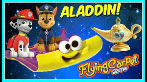 flying carpet game with paw patrol